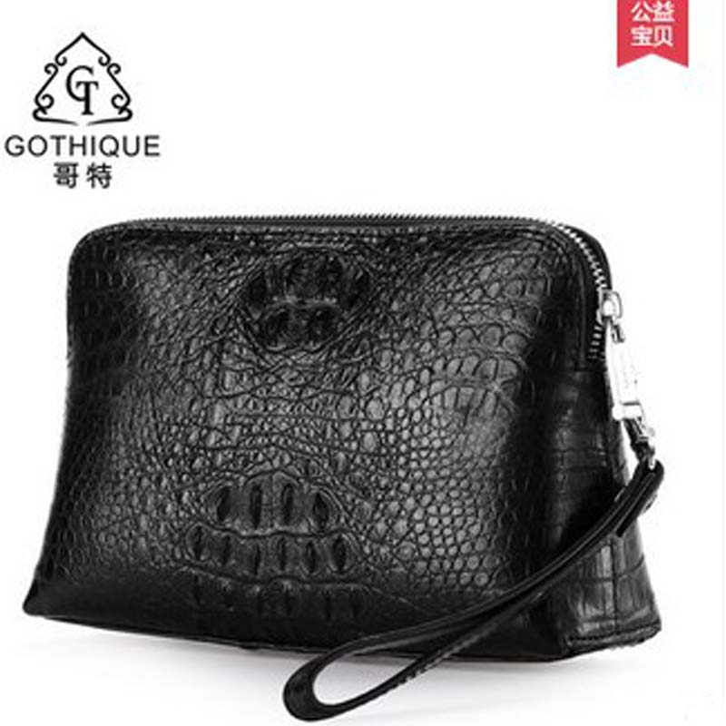 96eecfe559ad gete 2017 new hot free shipping Import Thailand crocodile leather handbag  men business high-capacity