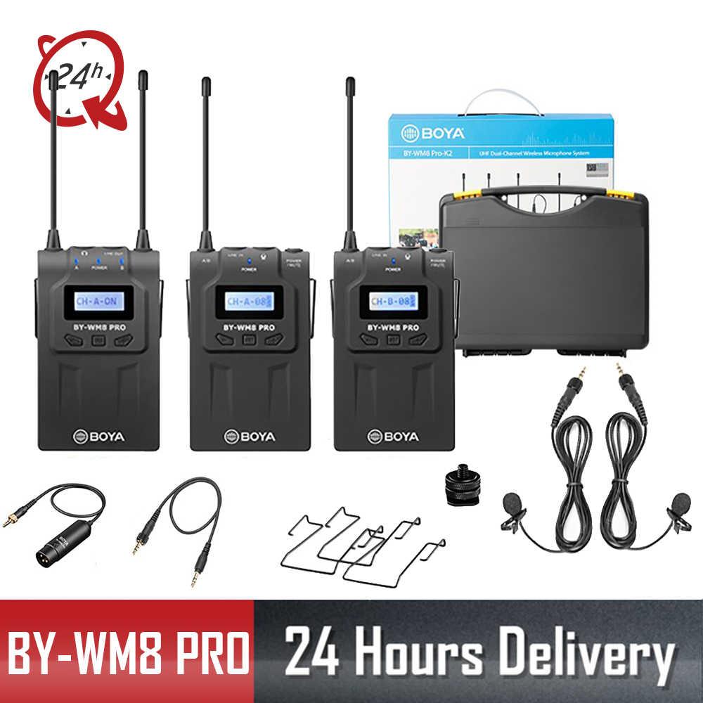 BOYA BY-WM8 Pro Микрофон конденсатор беспроводной микрофон Система Аудио Видео рекордер ресивер для Canon Nikon sony DSLR камеры