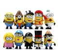 10PCS/lot Fashion Cartoon Action Figure  Minions PVC Toy 3D Eye Mini Moive Star Figure Toys Lovely Minion Kids Doll 5.5cm-6.5cm