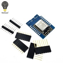 D1 Mini ESP8266 ESP-12 ESP-12F CH340G CH340 V2 USB WeMos WIFI Development Board D1 Mini NodeMCU Lua IOT Board 3.3V With Pins(China)