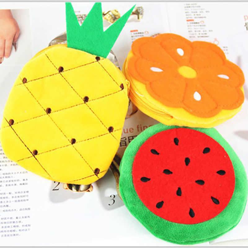 Kawaii الكرتون البطيخ الفاكهة الأطفال أفخم محفظة البريدي تغيير المحافظ عملة حقيبة محفظة الاطفال فتاة النساء للهدايا