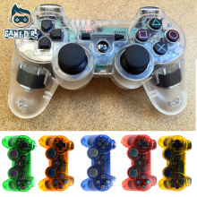 Transparent Case For Sony Playstation 3 Wireless Bluetooth Gamepad Joystick For PS3 Controller Controls Game Gamepad  11 Colors