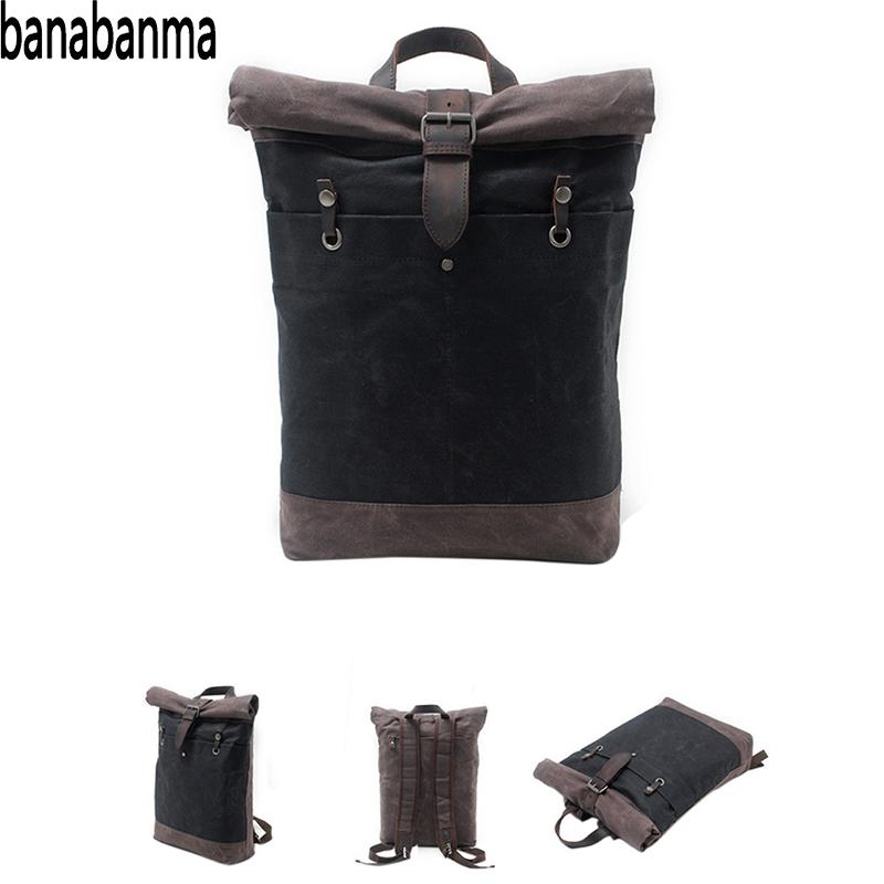 Banabanma Fashion Casual Backpack Large Capacity for Men Boy School Casual Outdoors Batik Canvas Knapsack Backpack Men  ZK40Banabanma Fashion Casual Backpack Large Capacity for Men Boy School Casual Outdoors Batik Canvas Knapsack Backpack Men  ZK40