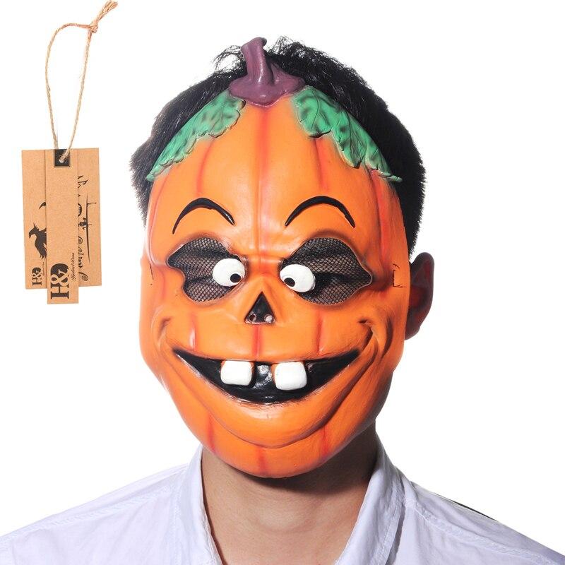 H&D Horror Movie Halloween Pumpkin Funny Latex Full Mask