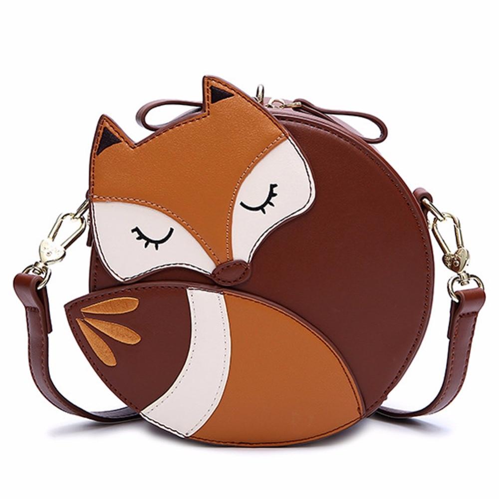 ZENTEII Women Faux Synthetic Leather Fox Shoulder Bag цена