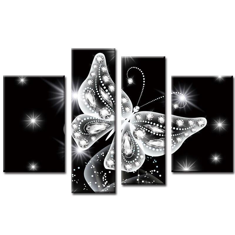 Plein carré perceuse multi peinture 5d bricolage diamant peinture cristal papillon kit 3d diamant broderie décorative œuvre