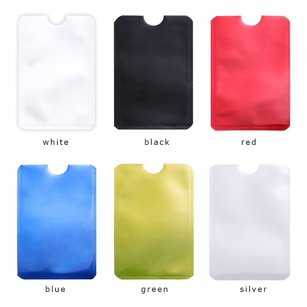 10 Pcs/Pack Anti Rfid Blocking Card Holder Anti-theft Reader Lock Bank ID Case Smart Safety Protection Metal Credit Card Holder
