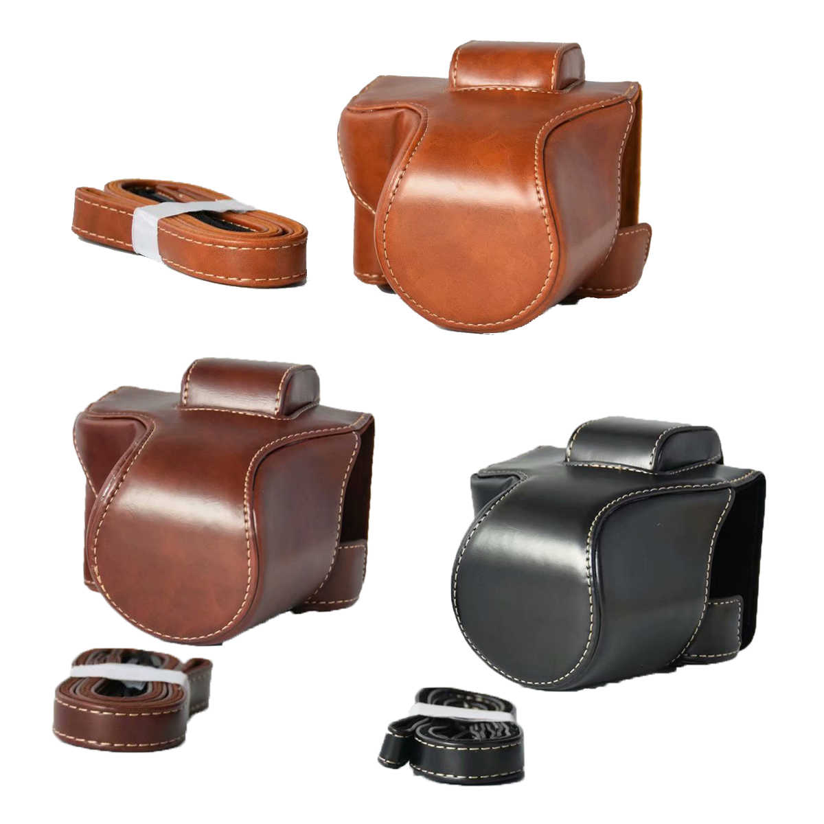 New PU Leather Camera Bag Bag For Canon EOS M5 M50  EOS M50 Case Camera Bag Cover With Strap