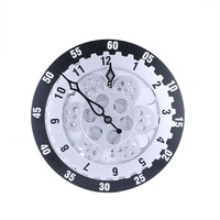 New 12 Inch Large Gear Wall Clock Fashion Creative Living Room Decoration Wall Clocks Personality Electronic Wall Clock