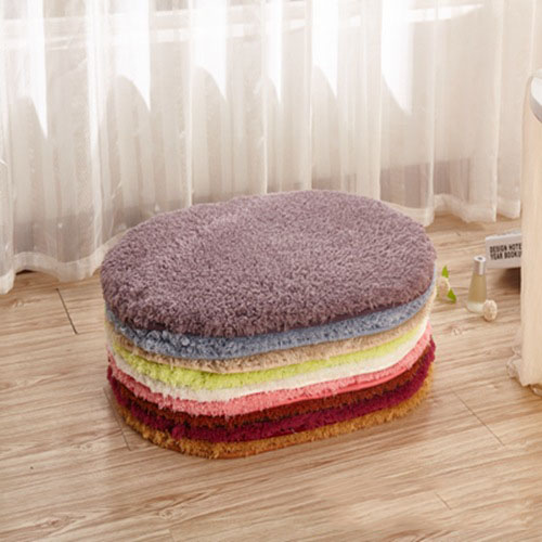 Oval Lamb Plush Carpet Rug For Living Room Bedroom Tea