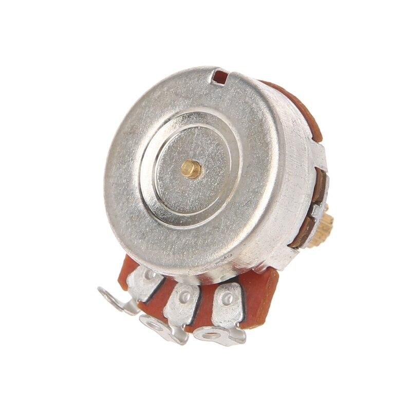 A250K Brass Short Split Shaft Audio Potentiometer For Electric Guitar Bass