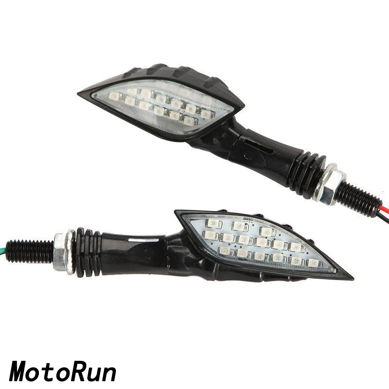 15 led Black Skull finger Turn Signals Indicator For Victory Cross Country