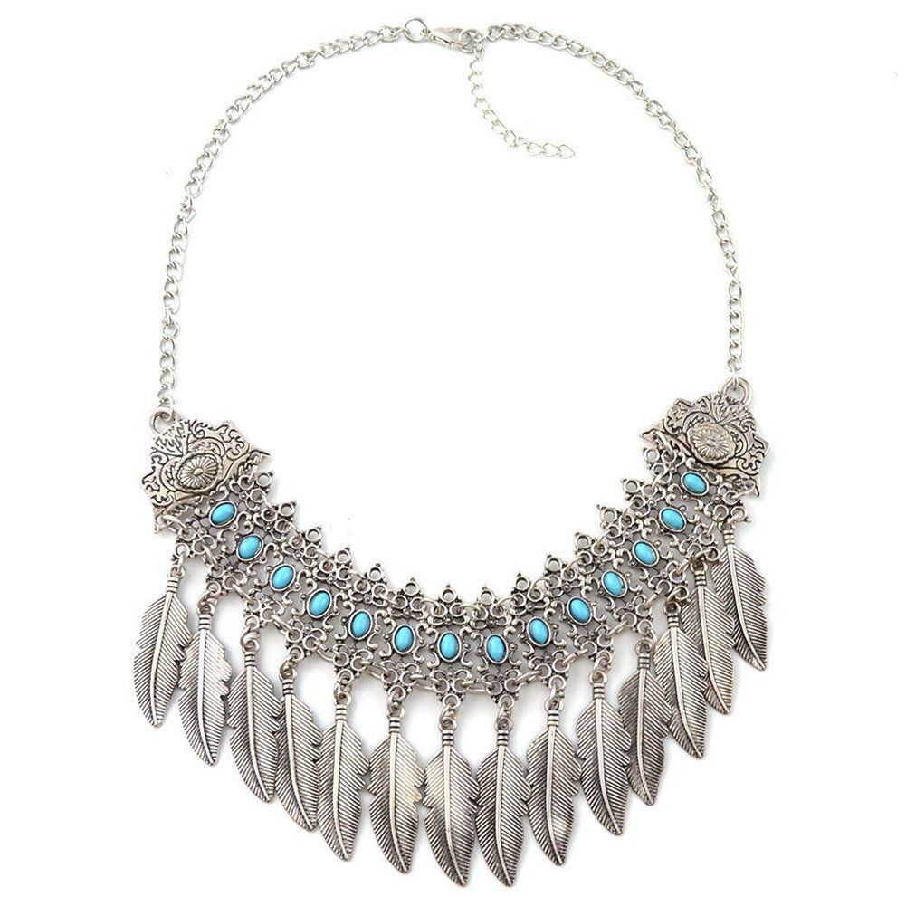 Pendant necklace Retro exquisite elegant pendant Woman leaves clavicle Accessories Jewelry necklace