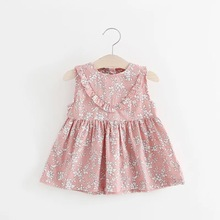 BNWIGE Baby Girls Dress Casual Summer Floral Print Cotton Baby Dress Lovely Princess Dresses Baby Girl Clothing For 0-24M Kids