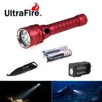 Ultrafire U D55 XM L2 1600lm 3LED Emitters Cool White Light Powerful Diving Flashlight LED Torch