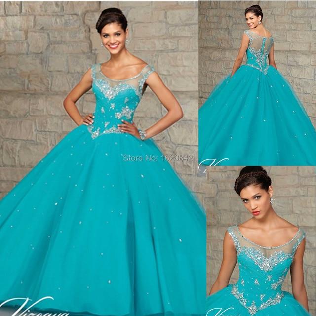 2ca3465ed Azul rosa Doce 16 dresses vestido de 15 vestidos de vestidos de 15 anos de  debutante