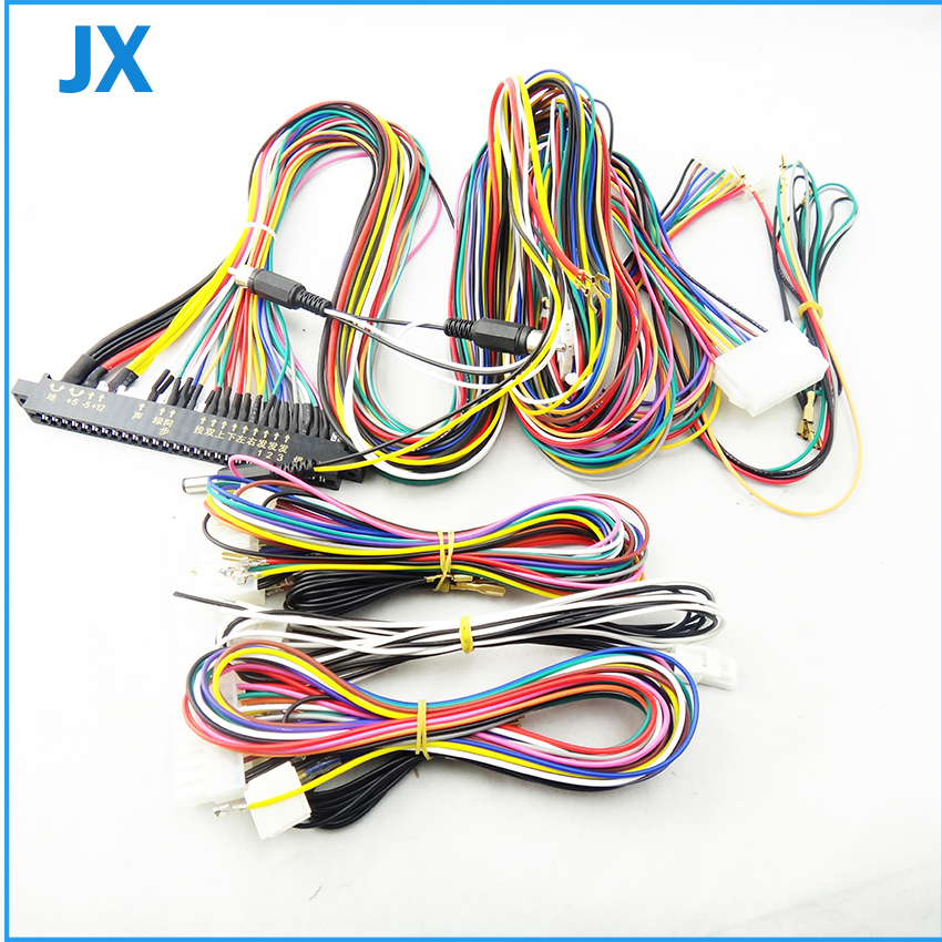LCD Jamma Harness 28 pin with 6 8 buttons wires for arcade