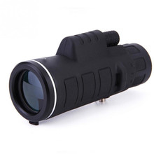High power binoculars with compass 35x50 single telescope mobile phone camera clip triangle bracket optional