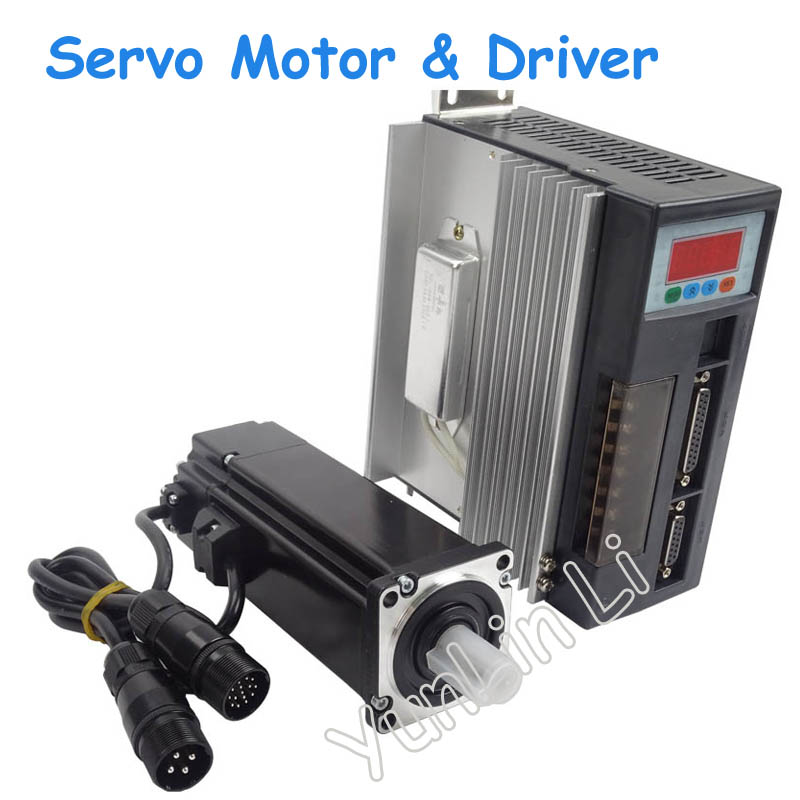 High Quality AC Servo Motor 1.91N.M 600W 3000RPM 60ST with Driver System 60ST-M01930 high quality ac servo motor 60st m00630 200w 3000rpm 0 637nm and matched servo driver ep100b 3a