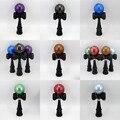 Metallc Kendama, 7 colores opcionales, Gleaming Metallic Paint Tama con Manchas Negro Ken, estándar 18 CM Kendama hecha de madera de Haya