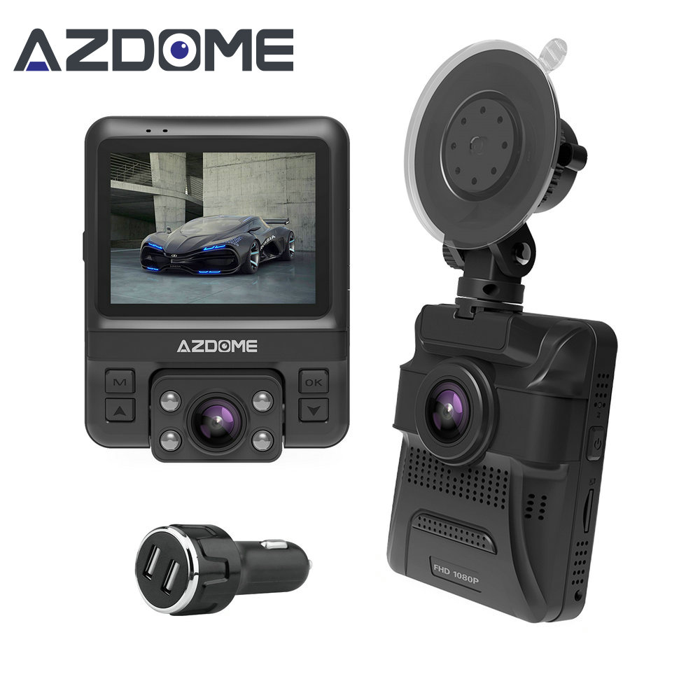 Azdome GS65H Mini Dual Lens Car DVR Camera 1080P Full HD Dash Cam Novatek 96655 Video Recorder G ...