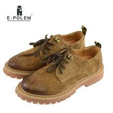 Men Leather Martin Boots Short Low Ankle Boots 2017 Spring Autumn Vintage Work Shoes Brown Grey Platform Casual Shoe цены онлайн