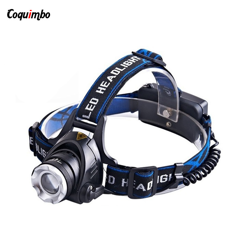 High Quality LED Headlight Adjustable Led Headlamp Waterproof XML T6 2000LM Head Lamp Light Torch Zoomable