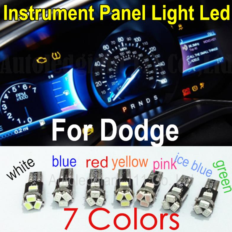 T5 Led 7 Colors Led Lamp Car Light 73 74 Wedge Led Auto Gauge