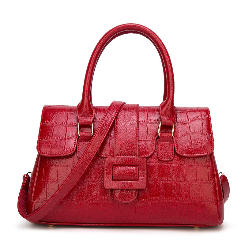 eb62546fa6404 Moda nuevo lujo elegante mujer bolsos grandes piel de cocodrilo ...
