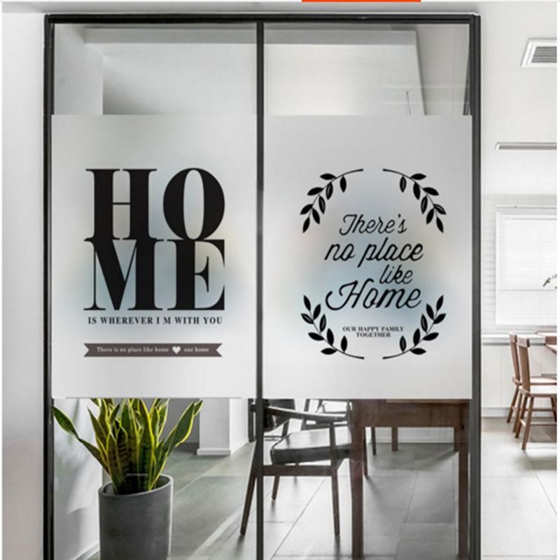 Window Glass Stickers Nordic Warm Decoration Glass Door Bathroom