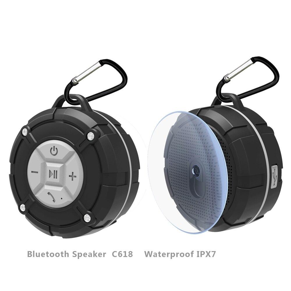 Toproad Waterproof Outdoor Bluetooth Speaker Portable Wireless Subwoofer Loudspeaker Shower