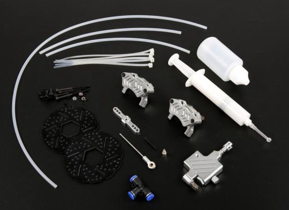CNC alloy front cable brake system wire brake fit 1//5 baja 5B HPI KM Rovan
