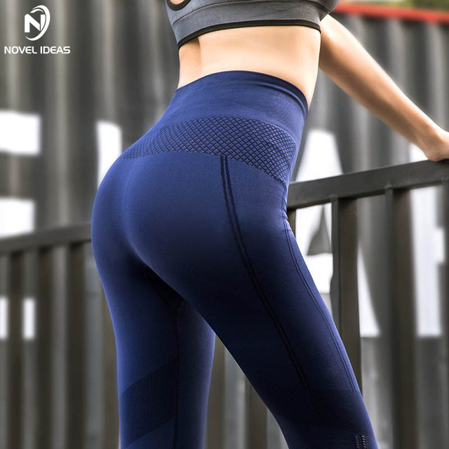 1de0c6f99e013 Yoga Pants Women Transparent Sport Fitness Gym Leggins Training Trousers  Mesh Slim Push Up Tights High Waist Stretch Trousers
