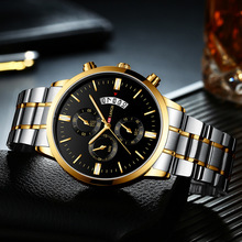 Top Brand Luxury Men Watches Business Classic Waterproof Quartz Watch Stainless Steel Casual Military Wrist Watch Male Clocks sinobi stainless steel men watches quartz movement luminous hands wrist watch band top brand luxury business watch for male