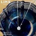 Мода Стерлингового Серебра 925 AAA Ожерелье Циркон Шесть Коготь Цирконом Серебряные Ожерелья & Подвески Для Женщин CY073
