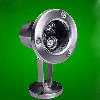 10pcs Lot 3W LED Underwater Light 12 Volt 24V Stainless Steel IP68 LED Swimming Pool Landscape