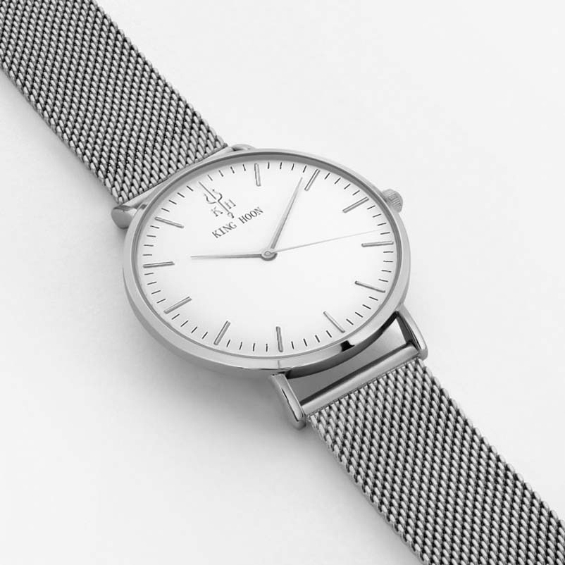 KING HOON srebrne žene satovi luksuz visoke kvalitete vode otporne - Ženske satove - Foto 3