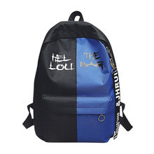 Mode femmes ou hommes Nylon Hit couleur cartable Gripesack Backpark lettre couleur correspondant cool sac à dos(China)