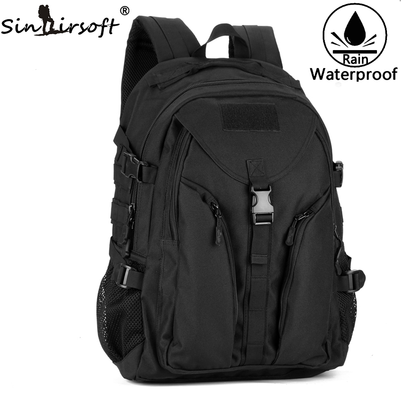 SINAIRSOFT Taktik Climbing Shoulder Bag kalis air Menunggang Backpack Ransel berkhemah komputer Nylon LY2015