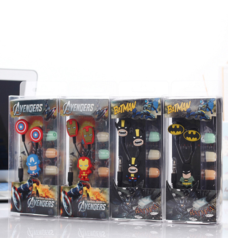 The Avengers Iron Man Captain America in-ear Earphone Headset Cute Batman Earphones Earbuds for iPhone Cellphone Mp3 for Android democracy in america nce