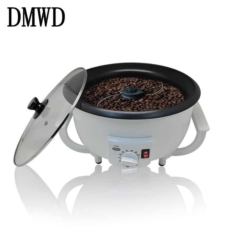 где купить DMWD Household Electric Coffee Roasters Temperature Adjustable Dried fruit Peanut bean roaster Coffee Beans Baking Machine EU US дешево