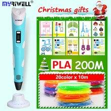 myriwell 3D pen 3 D pen 3D printer pen and 200m pla filament 3d drawing pen
