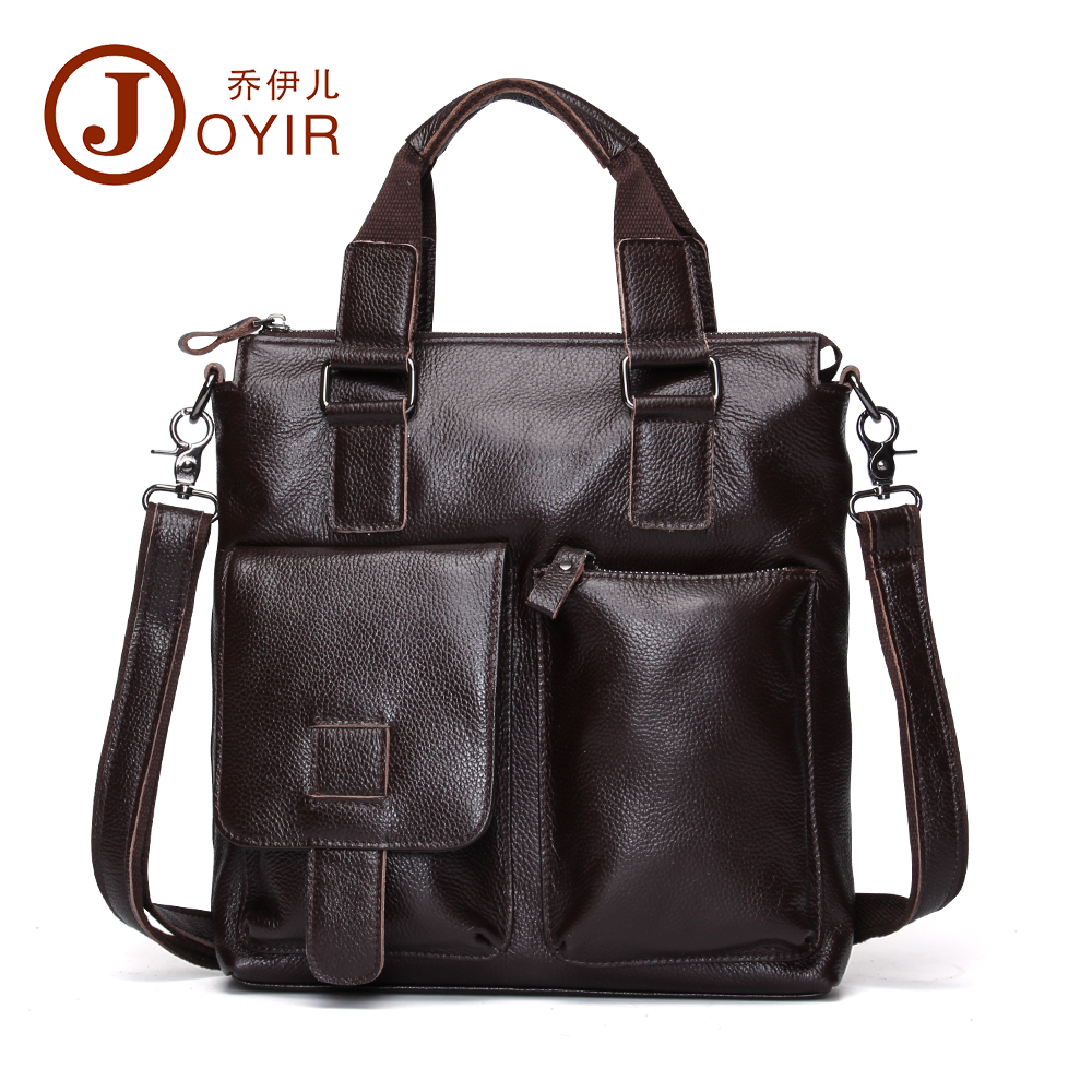 ФОТО JOYIR 100% Genuine Leather Briefcase Shoulder Tote Messenger Bags Men Business Laptop Handbags Crossbody Bags For Men Male B259
