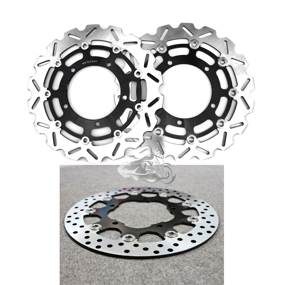 Floating Front Brake Disc Rotor For Motorcycle Suzuki GSR400 06-07 GSR600 & V-Storm DL650 & GSX650F 2008-2009 стоимость