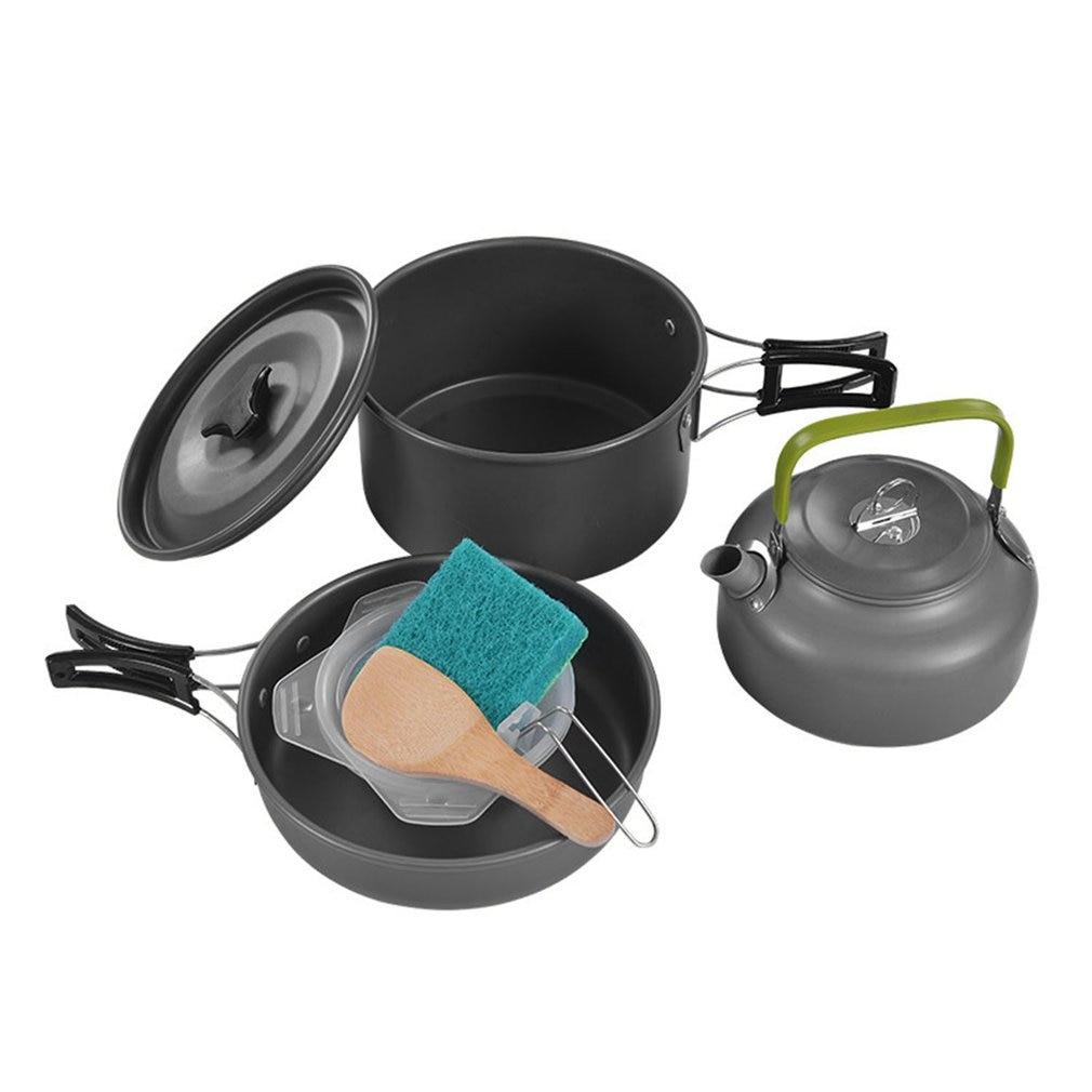 Widesea Camping ustensiles de cuisine En Plein Air Batterie De Cuisine de Camping Vaisselle Cuisine Ensemble Voyage Vaisselle Couverts Ustensiles Randonnée Pique-Nique Ensemble