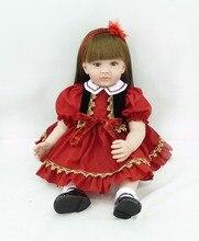Muñeca reborn de 60 cm con Vestido rojo