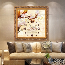High Quality Diamond Cross Stitch 5d Diy Embroidery wall Decoration Full Rhinestone Picture Dmc Painting Mosaic swan and clock