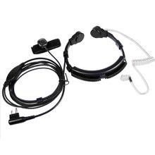 XQF 보안 목구멍 마이크 마이크 헤드셋 PTT 모토로라 휴대용 라디오 방송국 GP300 EP450 CP040 CP200 CP300 워키 토키