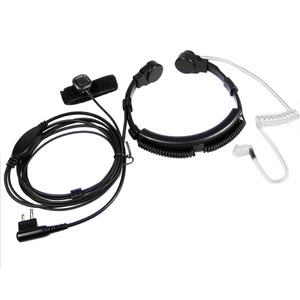 Image 1 - XQF Security Throat Microphone Mic Headset PTT for Motorola Portable Radio Stations GP300 EP450 CP040 CP200 CP300 Walkie Talkie