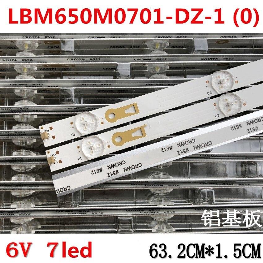 Original And New LED Backlight Lamp Strip 7leds 6v LBM650M0701-DZ-1 (0) LED Universal Light Strip 3pins